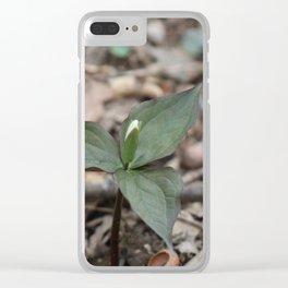Trillium Bud Clear iPhone Case