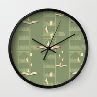 library Wall Clocks featuring Library by S. Vaeth