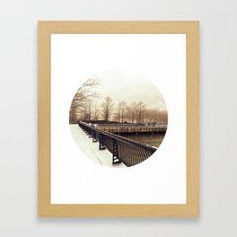 Along the Waterfront - Hoboken, NJ Framed Art Print