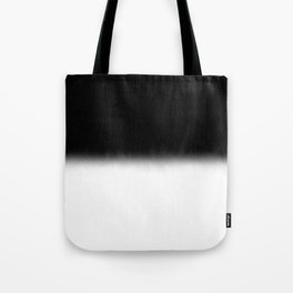 Black and White Split Fade Inverse Tote Bag