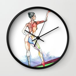 En Pointe, Misty Copeland ballet, NYC artist Wall Clock