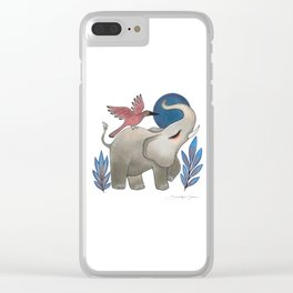 Save the Elephants Clear iPhone Case