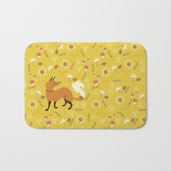 Cute as a Fox Bath Mat