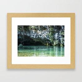 Grotte di Oliero Framed Art Print