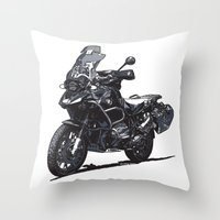 bmw Throw Pillows featuring BMW R1200GS by Ernie Young