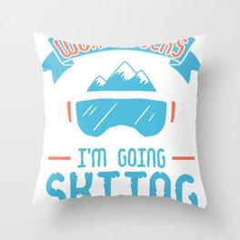 ski jumping ski jumping hill winter snow ski Throw Pillow