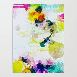 Abstract Paint Splatter Art Poster