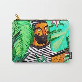 Man with a plant Carry-All Pouch