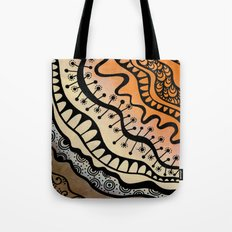 From copper to bronze tangled Tote Bag