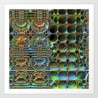 honeycomb Art Prints featuring Honeycomb by Lyle Hatch