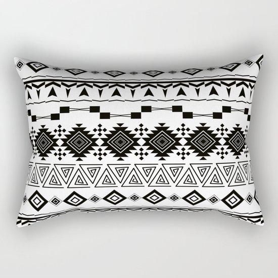 Aztec black white pattern. Rectangular Pillow