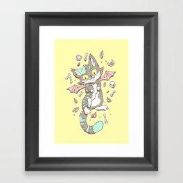 Monster Cat Framed Art Print