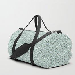 Folksy Flowers in Sky/Grey Duffle Bag