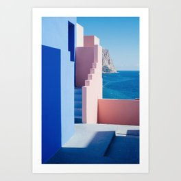 Colour architecture Art Print