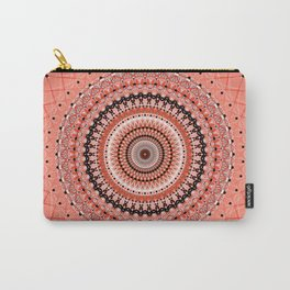 Living Coral Spiral Carry-All Pouch