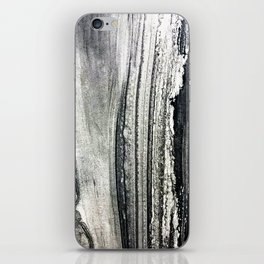 Luxurious Black Marble With Creamy White Accents iPhone Skin