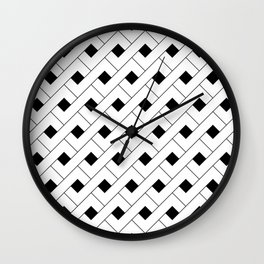 Monochrome Intricate Pattern Alpha Wall Clock