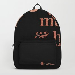 to the moon and back - black Backpack