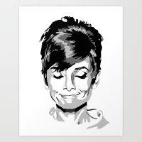 audrey hepburn Art Prints featuring Audrey Hepburn by Geryes