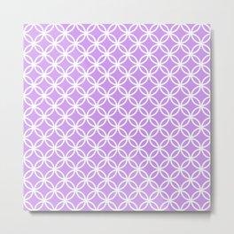 Lilac and white interlocking circles Metal Print