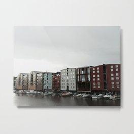 Waterfront in Trondheim Metal Print