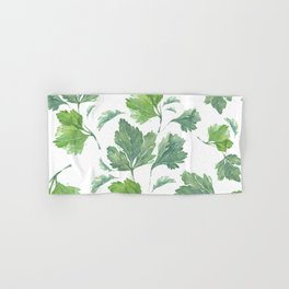 Watercolor trendy minimalistic artwork pattern with flower and palm Hand & Bath Towel