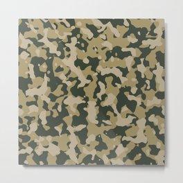 Camouflage Duffel Bag - Khaki Metal Print