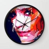 emma watson Wall Clocks featuring Emma Watson Vector by Raditya Giga