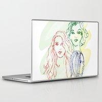 girls Laptop & iPad Skins featuring Girls by Duru Eksioglu
