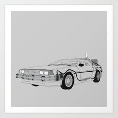 DeLorean DMC-12 Art Print