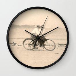 Love on a Bicycle Wall Clock