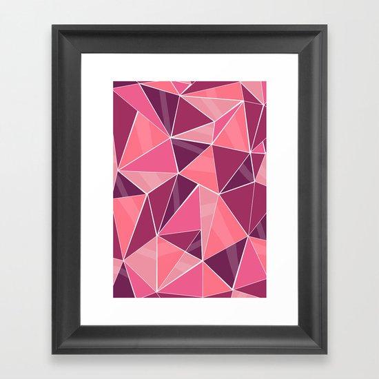 Pattern, pink Framed Art Print