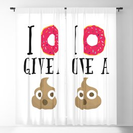Donut Give A Sh*t Funny Quote Blackout Curtain