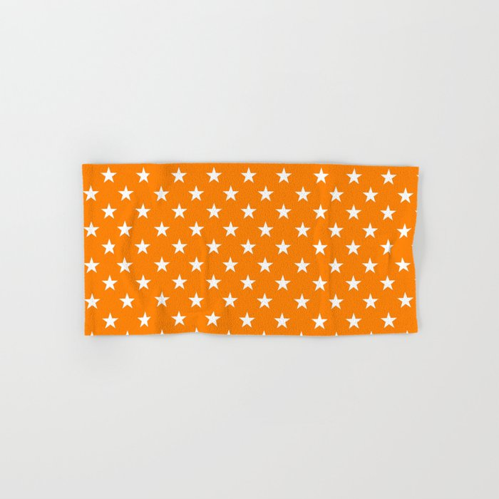 Stars (White/Orange) Hand & Bath Towel