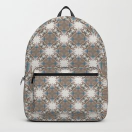 Brown and Blue Geometric - Light Starbursts Backpack
