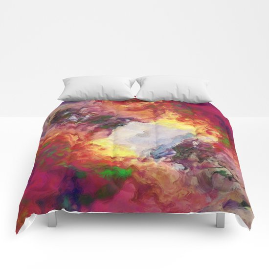 Shades of Red Abstract Comforters