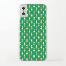 Ice Cream Scoop Green Robayre Clear iPhone Case