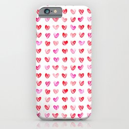 Little Painted Hearts iPhone Case
