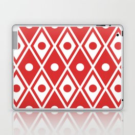 Harlequin Pattern Red Laptop & iPad Skin