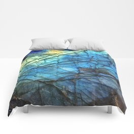 Royal Labradorite Crystal Agate Gemstone Print Comforters