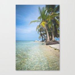 The San Blas Islands in Panama. Isla Iguana Canvas Print