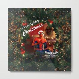 Spidey Christmas Metal Print