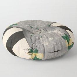 Latte Stone Plumeria Floor Pillow
