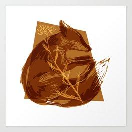 Fox & Yarrow Art Print