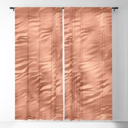 Tiger Copper Fur Blackout Curtain