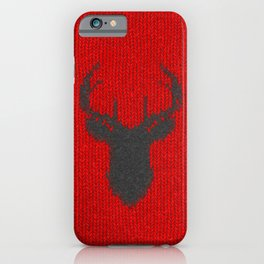 Antiallergenic Hand Knitted Deer Winter Wool Texture - Mix & Match with Simplicty of life iPhone Case