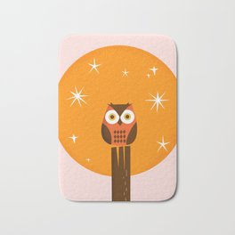 Owl on a Fence Bath Mat