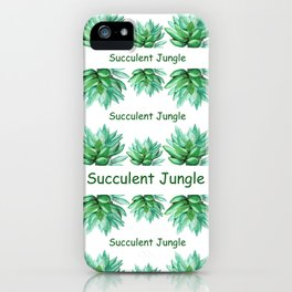 succulent echeveria iPhone Case