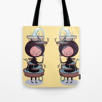 bath Tote Bags featuring Bath Suit by Kensausage