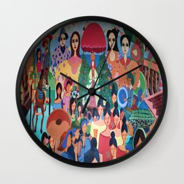 Pista sa aming nayon/ Our Town Feast Wall Clock